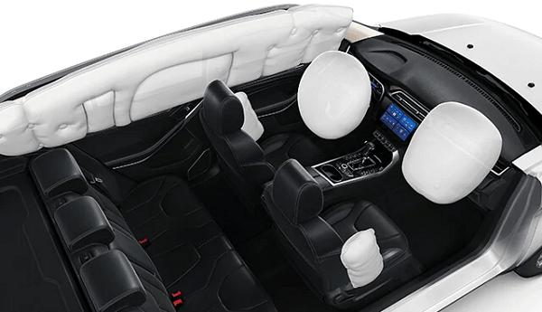 Túi khí quanh xe của ford territory 2021 mới