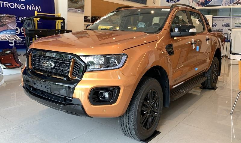 Ford Ranger Wildtrak 2021 2022 màu đỏ cam