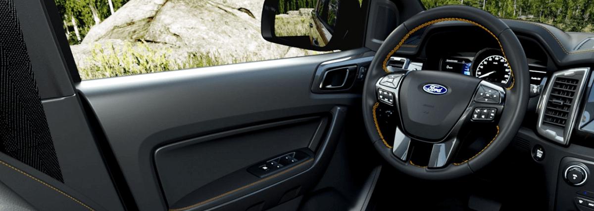Khoang xe ranger 2022 mới với thiết kế rộng rãi hơn tiện nghi hơn